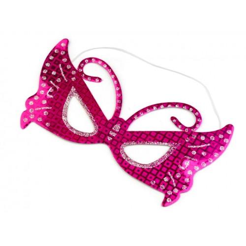 Škraboška motýľ s glitrami