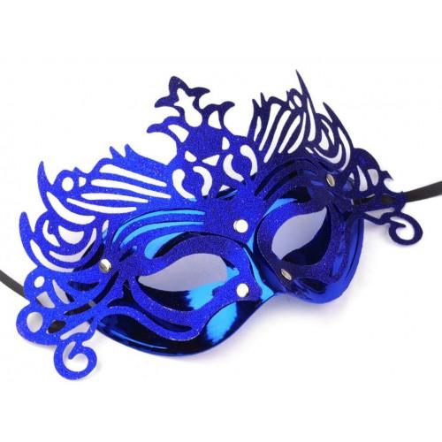 Škraboška kráľovská modrá